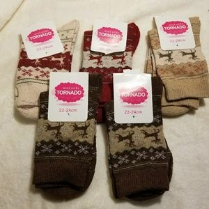 Accessories - Women's Deer Socks Warm. Four colors available
